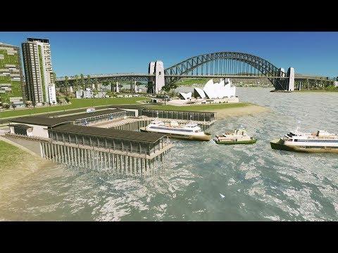 4K Cities Skylines EP June 2019. My New City - Sydney & Auckland Content.