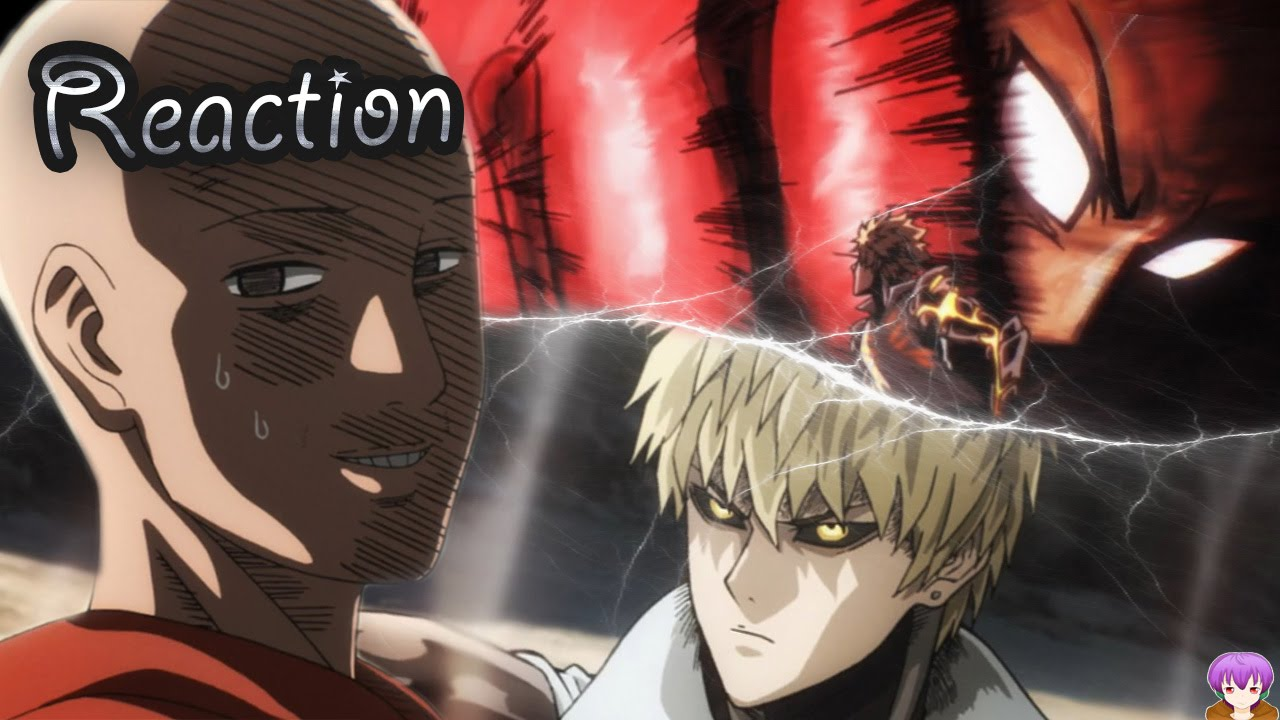 hypegasm one punch man episode 5 reaction saitama vs genos full