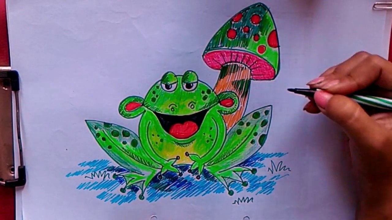 Learn to Draw a Cartoon Frog - YouTube