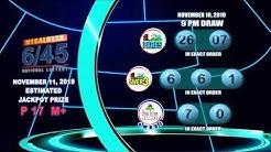 [LIVE] PCSO 9:00PM Lotto Draw - November 10, 2019