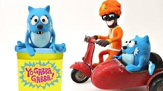 Yo Gabba Gabba! Play doh Animation Stop Motion Video - DJ Lance Rock, Toodee