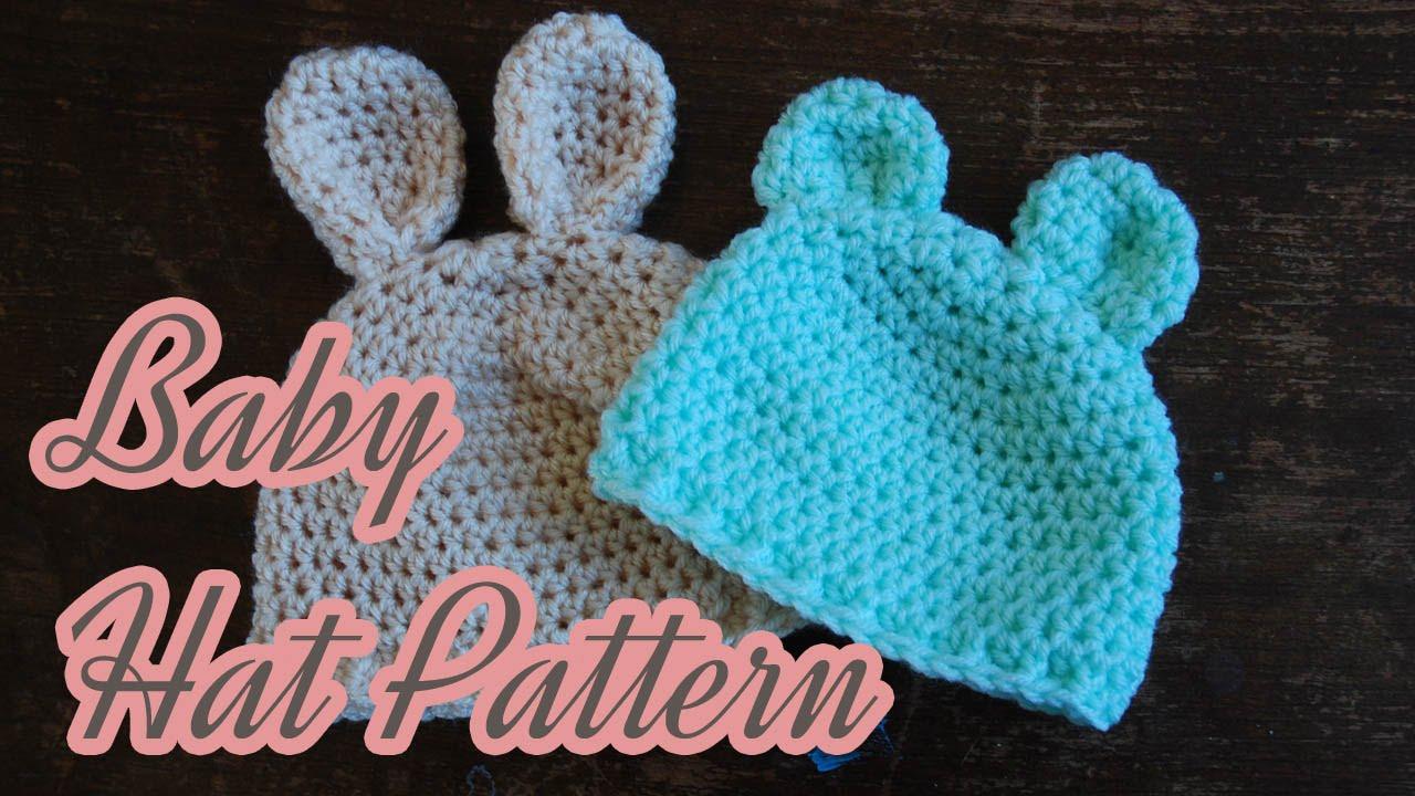 Bear (or Bunny) Crochet Baby Hat