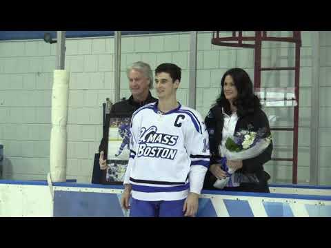 2018 UMass Boston Men's Hockey Senior Day Ceremony (2/10/18)
