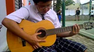 Gambar cover C A minor D minor  ke G ke C lagi Cover By Lucas Montana