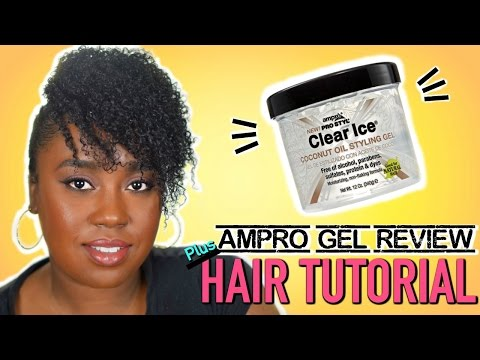 Ampro Coconut Clear Ice Gel Review Hair Tutorial