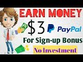 👉Earn $3 For Sign-up Bonus Free🔥 | No Investment 100% working site || online earn money in [Hindi]