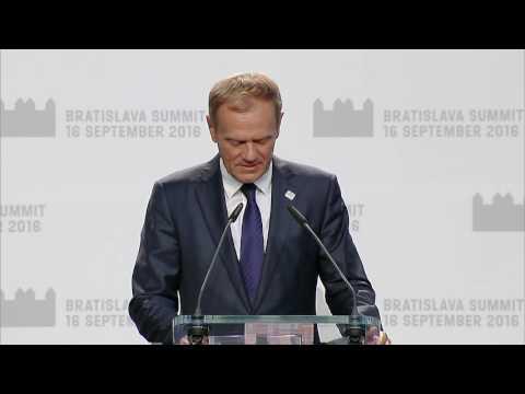 Press statement by President Tusk at Bratislava Summit