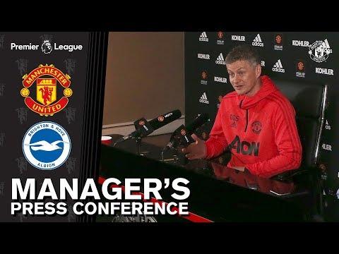 Managers Press Conference | Manchester United v Brighton | Ole Gunnar Solskjaer