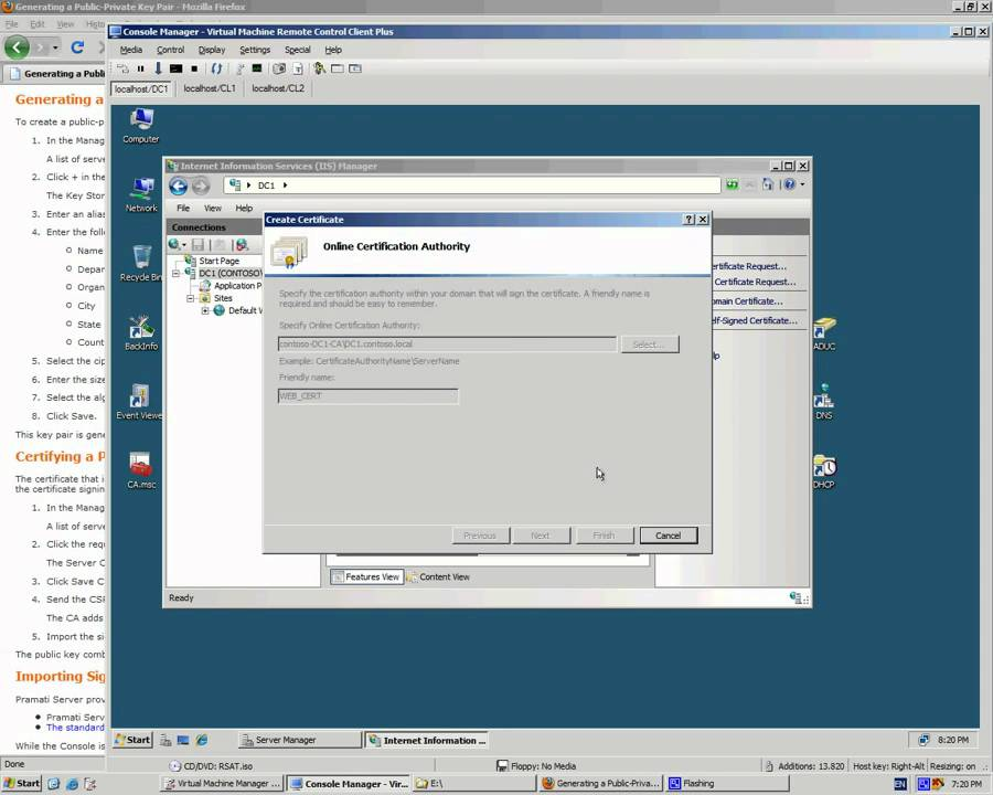 INSTALING DOMAIN CERTIFICATE IN IIS FOR WEB SITE - YouTube
