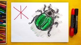 Рисуем Алфавит | Буквы Д Е Ё Ж | Урок рисования для детей
