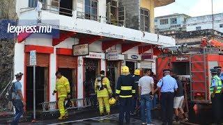 Port-Louis: un incendie éclate dans un bâtiment en bois