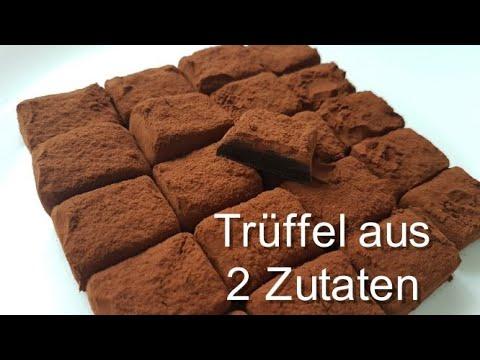 2 Zutaten Dessert/Schoko Pralinen Aus Kondensmilch Und Backkakao/Trüffel-Rezept/Wahnsinnig Lecker