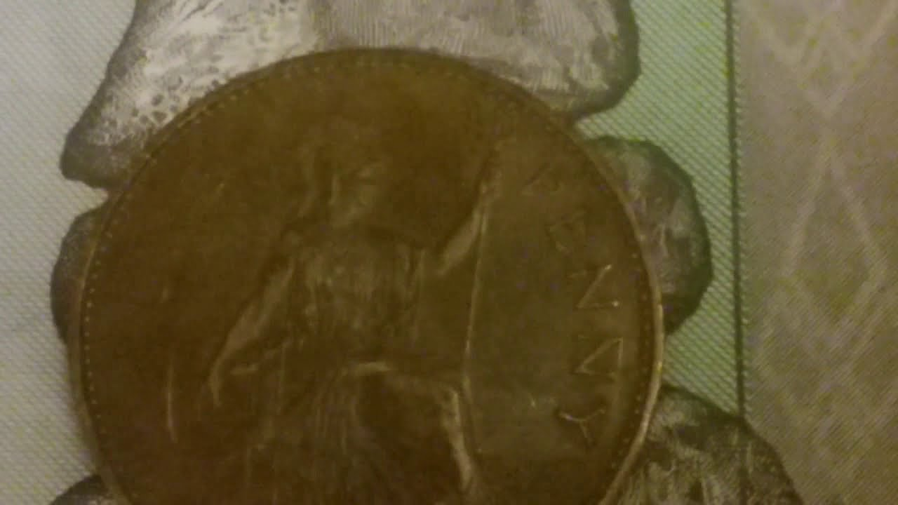 1967 England One Penny coin