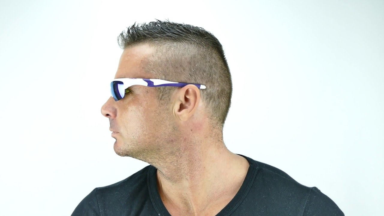 7013096cc1 Oakley Half Jacket 2.0 Pearl Violet Iridium - OO9144-08 - YouTube