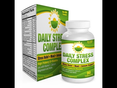 Daily Stress Relief Complex/Supplement (B-Vitamins + Herbs)