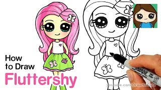 human fluttershy drawing lesson
