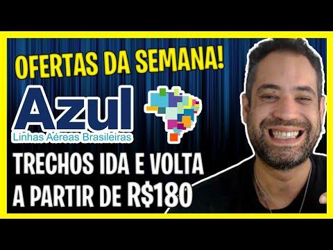 OFERTAS DA SEMANA AZUL! IDA E VOLTA A PARTIR DE R$180! PROMO AZUL!