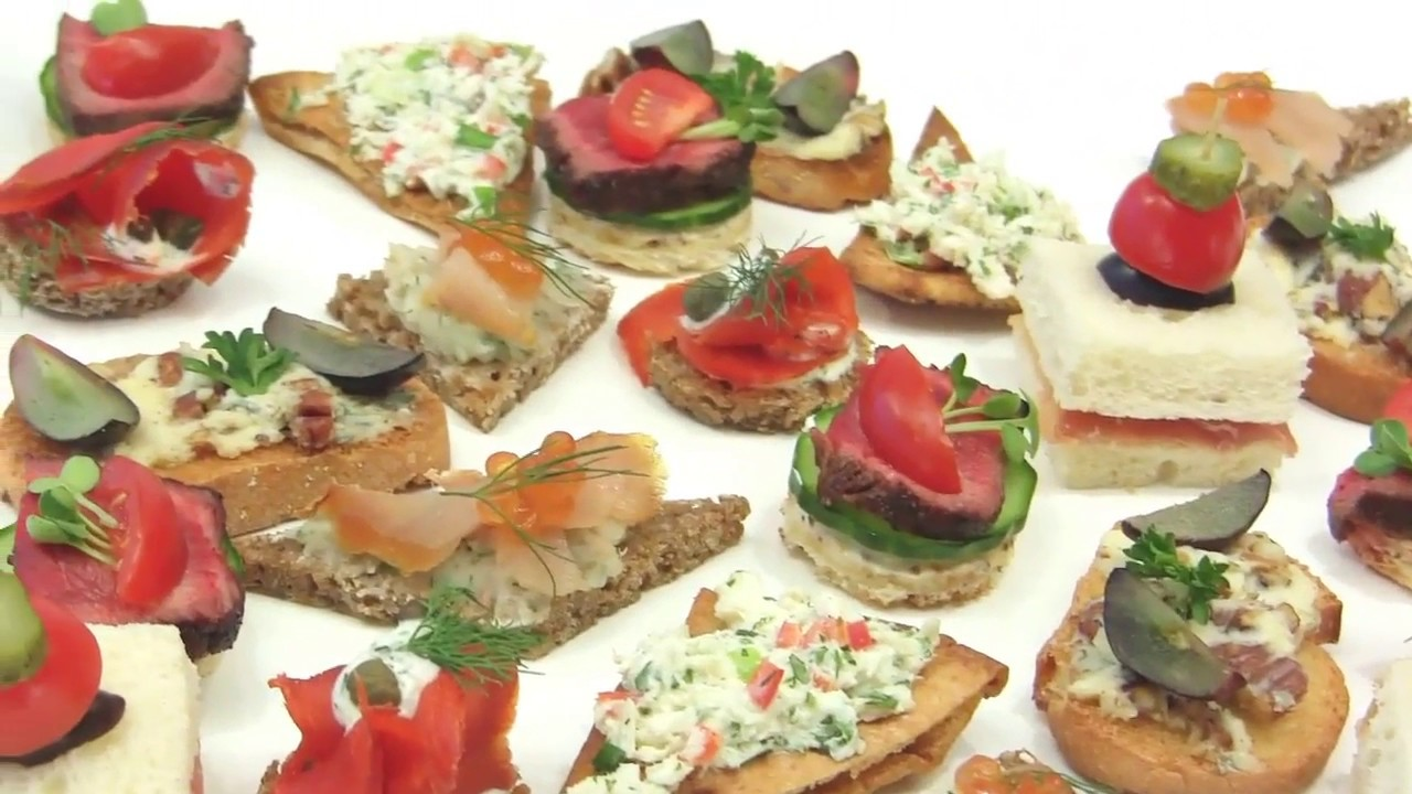 Learn about canap s hors d 39 uvre youtube for Canape hors d oeuvres difference