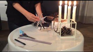 Flet og lav en julestjerne og papirstjerne med vejledning