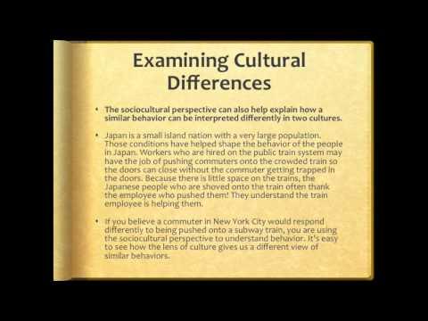 Socio Cultural Perspective