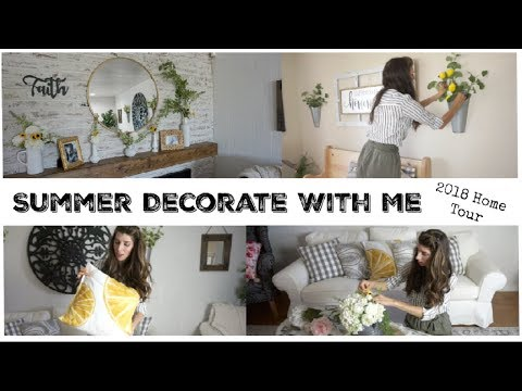 SUMMER DECORATE WITH ME + DIYs | HOME TOUR 2018 | Momma From Scratch