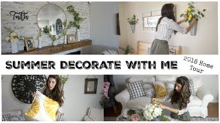 SUMMER DECORATE WITH ME + DIYs   HOME TOUR 2018   Momma From Scratch