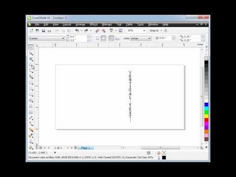 Creating Vertical Text In CorelDraw