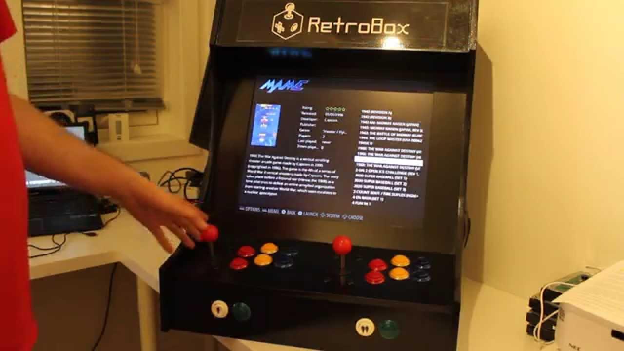 RetroBox  Second RetroPie Arcade Build  YouTube
