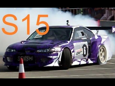 Nissan Silvia S15 Drift Ras Al Khaimah Red bull car park drift درفت نيسان سيلفيا
