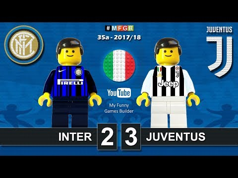 Inter Juventus 2-3 • Serie A 2018 (28/04/2018) goal highlights sintesi Inter Juve in Lego Calcio