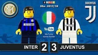 Inter Juventus 2-3 • Serie A 2018 (28/04/2018) goal highlights sintesi Inter Juve in Lego Calcio