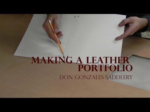 Making a Leather Portfolio