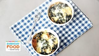 Quick-bake Spinach And Cheddar Strata - Everyday Food With Sarah Carey