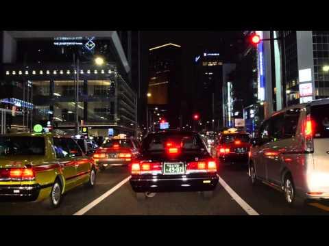 Tokyo Ginza night drive 4K 2016