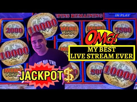 OMG!! How Many HANDPAY JACKPOTS I Got! UNBELIEVABLE Live Stream Ever