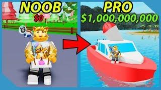 Noob To Pro! 1,000,000,000 Coins! Unlocked Speedboat! - Roblox Ice Cream Van Simulator