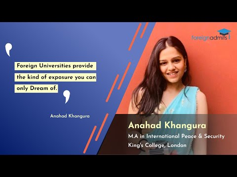 Want to Build Career in International Peace & Security| King's College | London | Anahad Journey