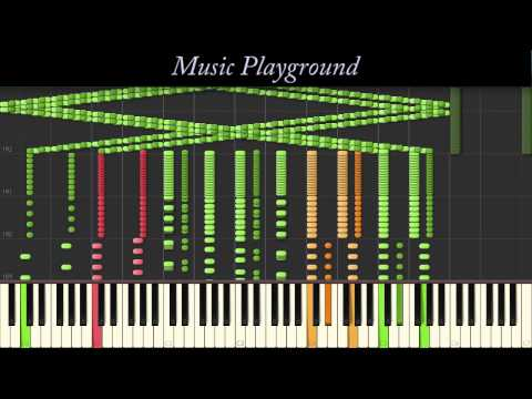 121 {IMPOSSIBLE} Music Playgrounds Piano Drop Synthesia