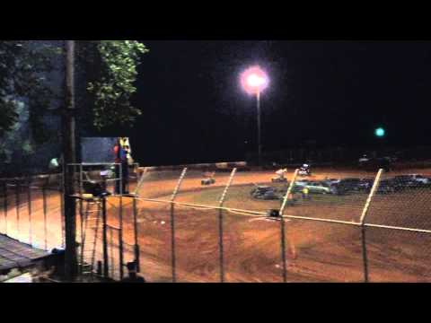 Carolina Race Saver Sprint Car HEAT Harris Speedway Forest City, NC July 18th 2015