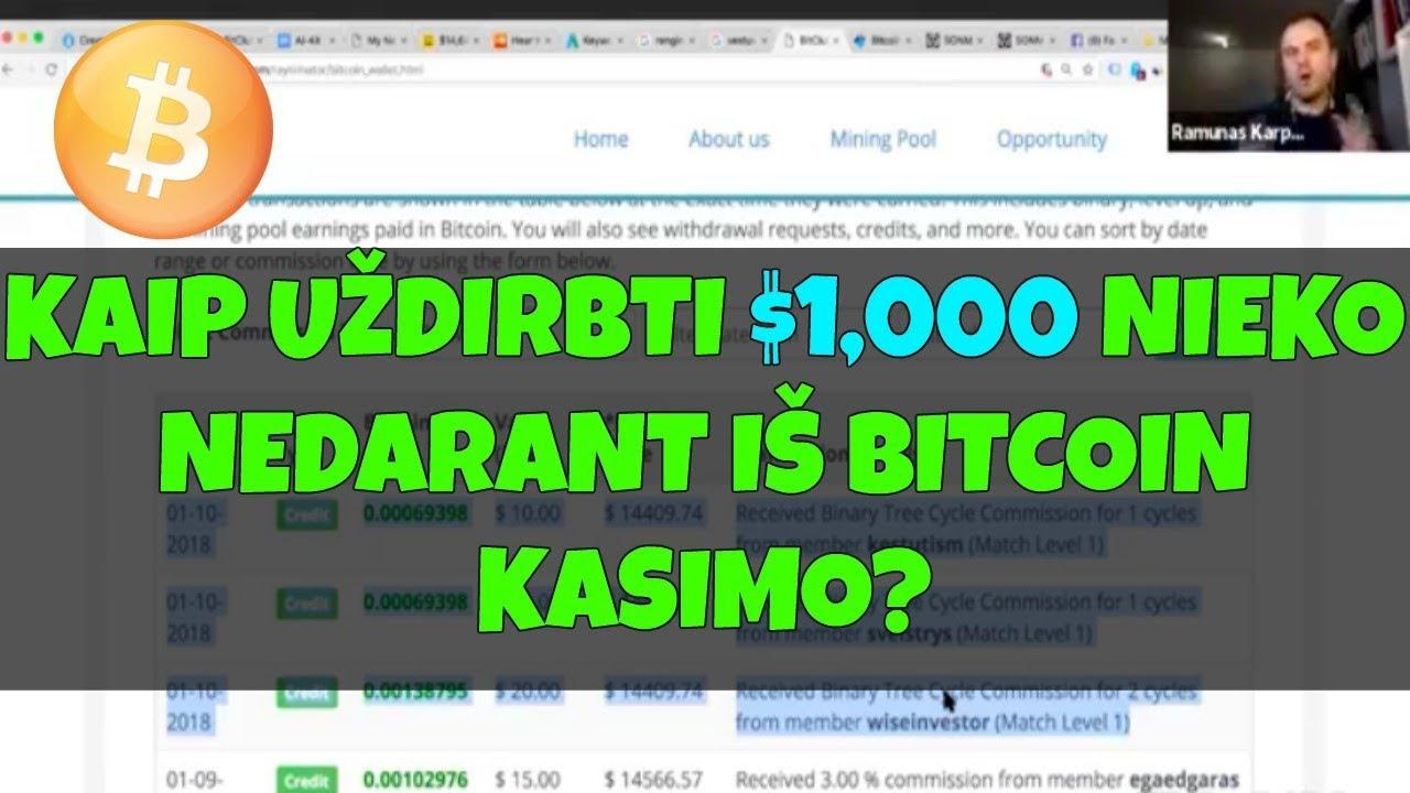 kaip uždirbti bitcoin)