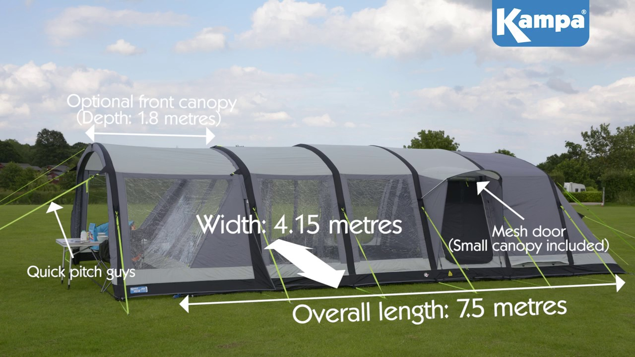 Kampa Croyde 6 AIR Pro Tent - YouTube