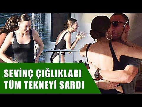 Serenay Sarıkaya'ya Kerem Bursin'in Sürpriz Yaptığı O anlar Uçankuş Kameralarına Yakalandı!