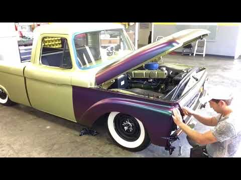 Avery Lightning Ridge Color glow time lapse car wrap Ford F100