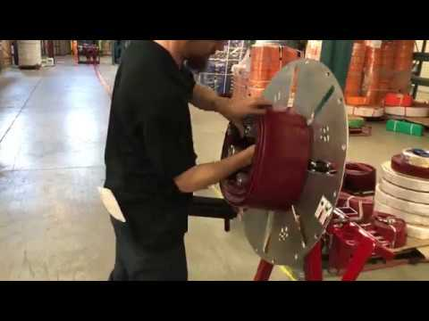 A fast way to reel lay flat hose
