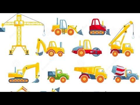 CÓMO DIBUJAR MÁQUINAS Y JUGUETES Excavadora, Camión, Tractor, Coche.Vídeo Para Niños En Español