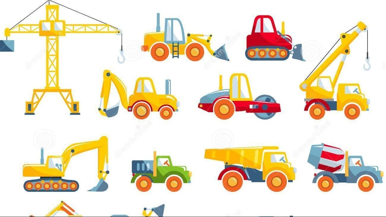 How To Draw Machines And Toys Excavator Truck Tractor