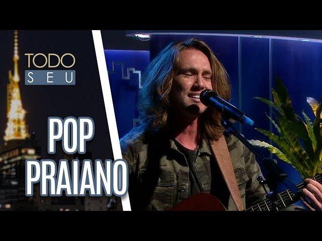 """Cantor Vitor Kley apresenta o sucesso """"O Sol"""" no palco do Todo Seu (04/07/18)"""