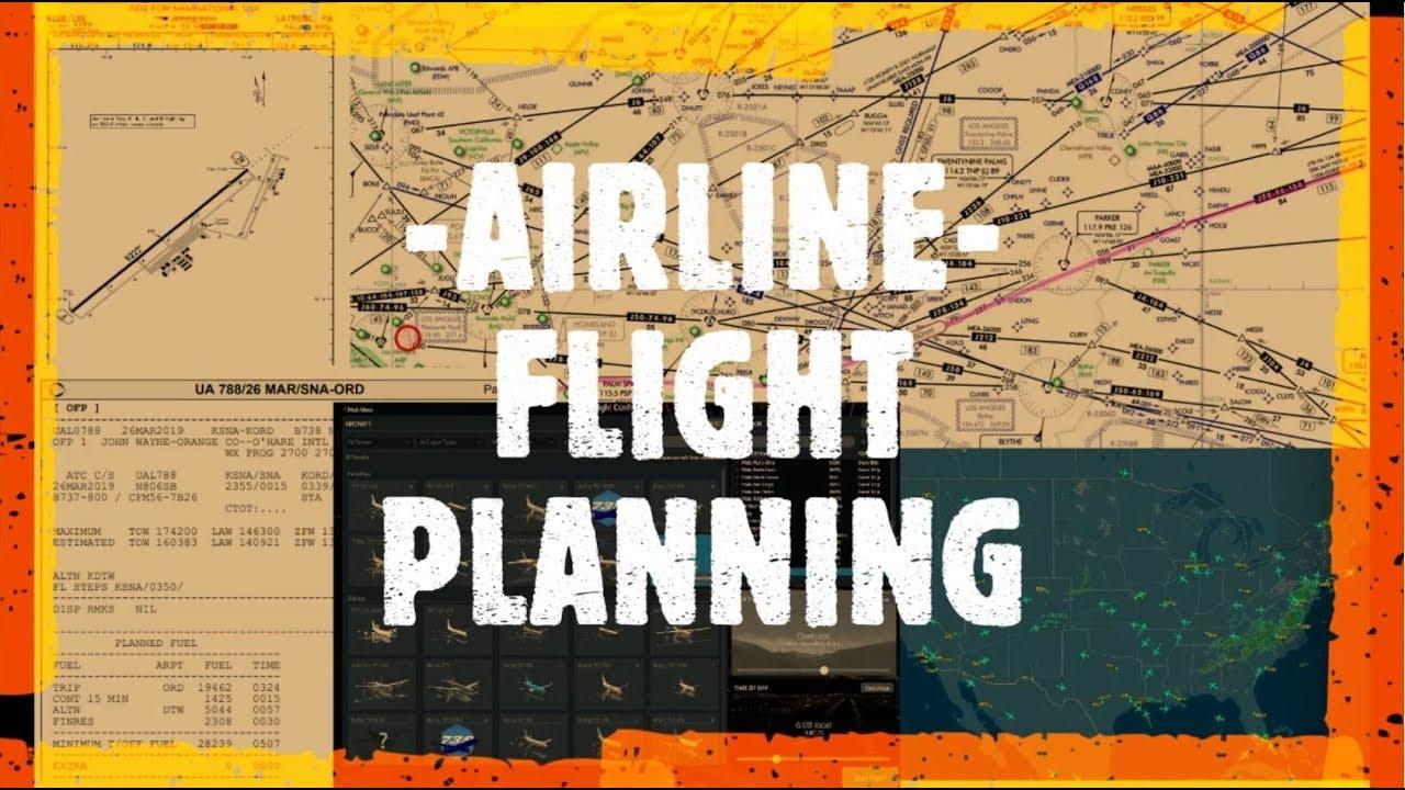 Airline Flight Planning in X Plane 11