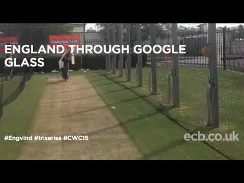 England batsman Gary Ballance through Google Glass
