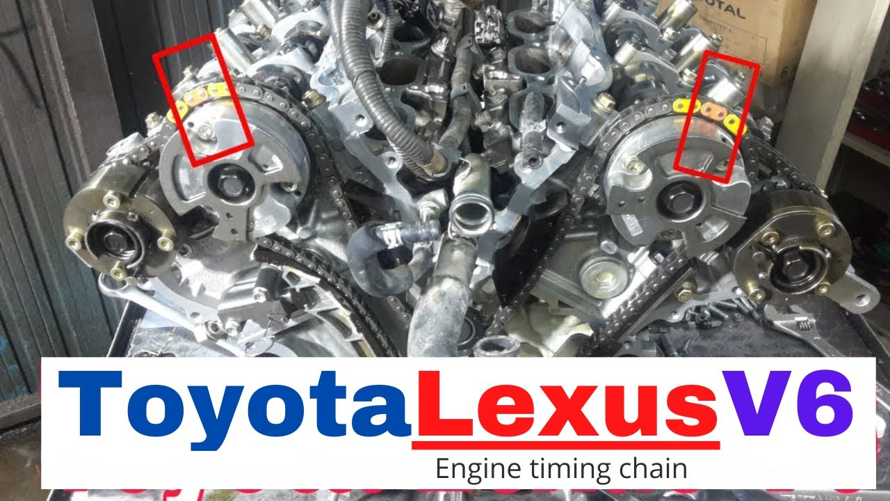 Toyota Lexus, Engine timing chain, V6 3 5L 2GR-FE, FSE, FXE, FXS, 2012,  2014, Mechanical Tips